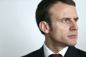 French Economy Minister Emmanuel Macron looks on during a visit to the NUMA business incubator in Paris on March 12, 2015. AFP PHOTO / THOMAS SAMSON (Photo credit should read THOMAS SAMSON/AFP/Getty Images)