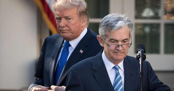 "Donald Trump e Jerome ""Jay"" Powell"