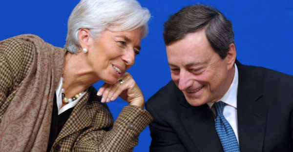 Christina Lagarde e Mario Draghi