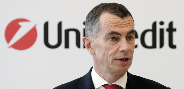 Il ceo di UniCredit, Jean Pierre Mustier