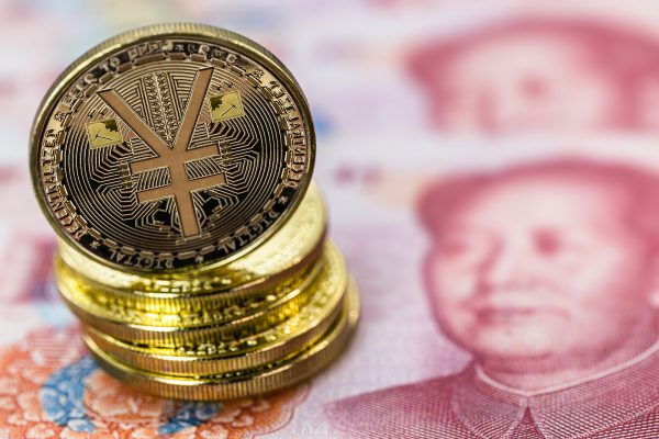 Chinese Digital Currency, Conceptual Image Of The Digital Yuan,