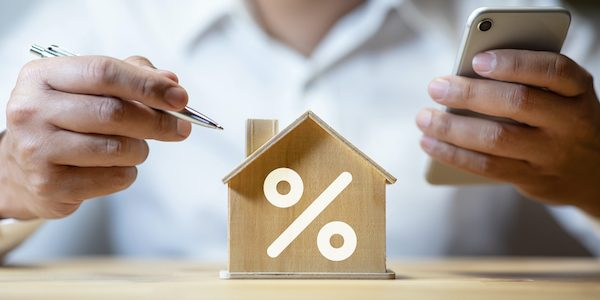 Property interest rate,finance loan increase.investment planning.business real estate.profit of banking.,investor thinking strategy