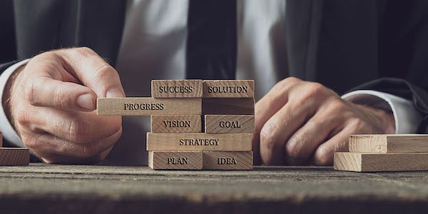 Business strategy and vision conceptual image